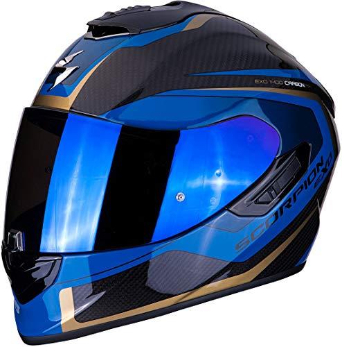 Casco Scorpion EXO-1400 Air Carbon Esprit Negro/Azul XL 1