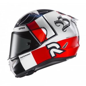Casco HJC RPHA 11 Ben Spies MC1 Blanco/Rojo XL