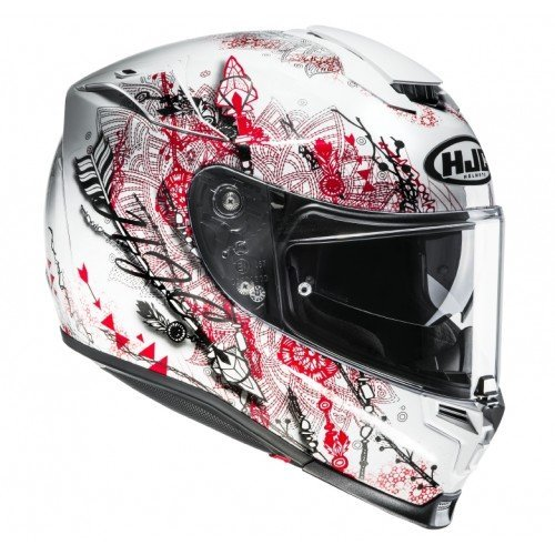 Casco HJC RPHA 70 Hanoke MC1SF Blanco/Rojo/Negro XL 1