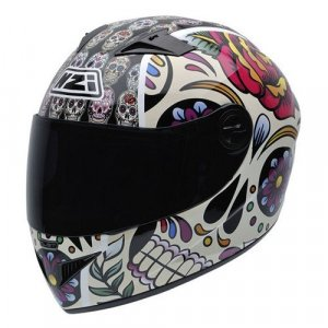 Casco NZI Vital Mexican Skulls Multicolor XL