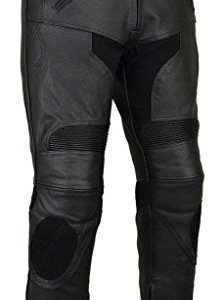 Pantalones piel Bikers Gear LT1005-48S Negro 2XL