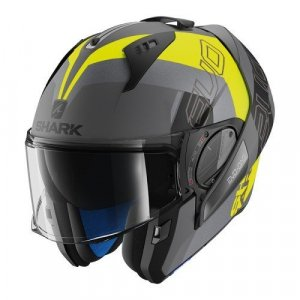 Casco abatible Shark Evo-One 2 Slasher Gris/Amarillo XS