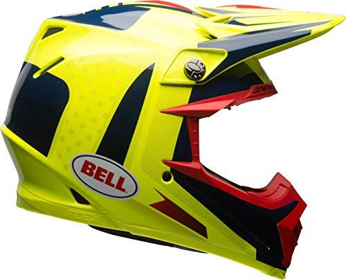 Casco Bell Moto-9 Carbon Flex Vice Amarillo/Azul L 1