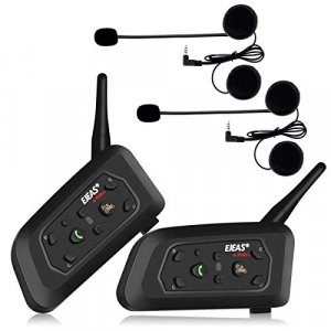 Par Intercomunicadores Ejeas V6 Pro Bluetooth Negro