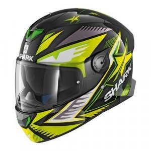 Casco Shark Skwal 2 Draghal KGY Negro/Amarillo XL
