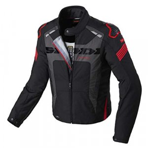 Chaqueta Spidi Warrior H2Out Negro/Rojo XL