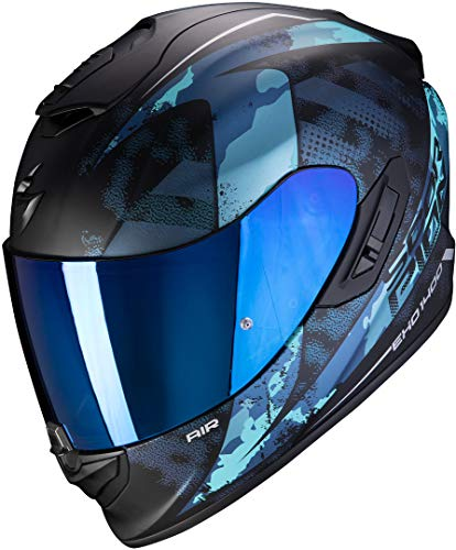 Casco Scorpion Exo-1400 Air Sylex Negro/Azul XL 1