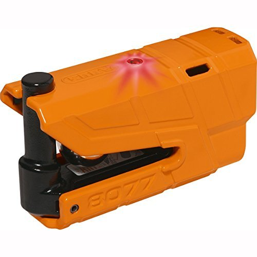 Candado Abus Granit Detecto XPlus 8077 con alarma Naranja 1
