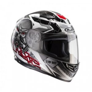 Casco HJC CS-15 Rafu MC1 Negro/Blanco/Rojo XL