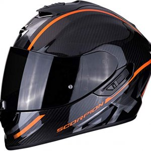 Casco Scorpion Exo-1400 Air Carbon Grand Negro/Naranja L