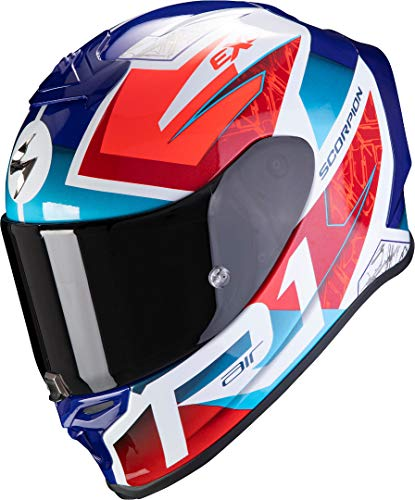 Casco Scorpion Exo-R1 Air Infini Azul/Rojo/Blanco M 1