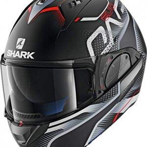 Casco Shark EVO One Keenser KSR Negro/Gris/Rojo L