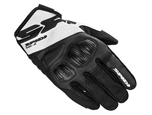Guantes Spidi Flash-R Evo Negro/Blanco L 1
