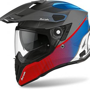 Casco Airoh Commander Progress Azul/Rojo Mate XS