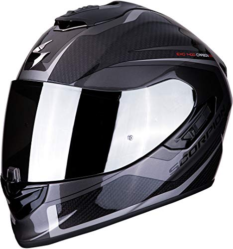 Casco Scorpion Exo-1400 Air carbon Esprit Negro/Gris XS 1