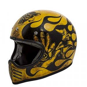 Casco Premier Trophy MX BD12 Negro/Amarillo L