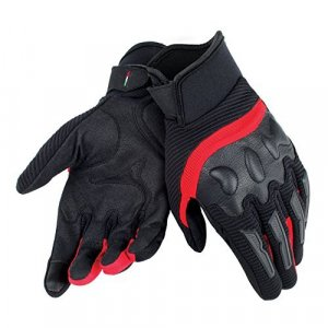 Guantes Dainese Air Frame Unisex Negro/Rojo XXL