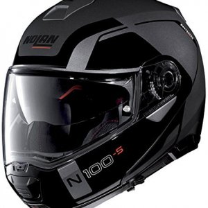 Casco Nolan N100-5 Consistency N-Com Negro/Gris XXL
