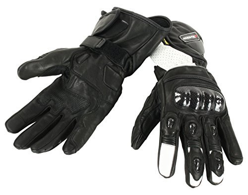 Guantes piel Rider-Tec RT4302 Negro/Blanco M 1
