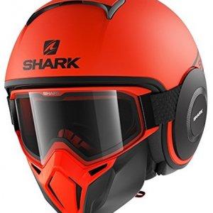 Casco jet Shark Drak Street Naranja XL