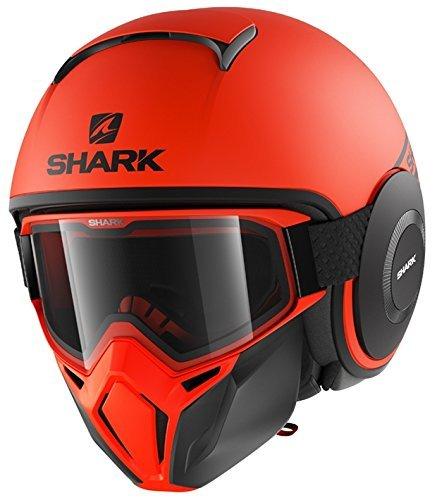 Casco jet Shark Drak Street Naranja XL 1
