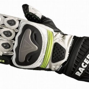 Guantes Racer 20251 Blanco/Negro/Fluo S