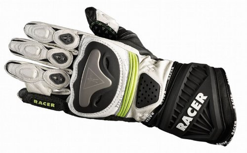 Guantes Racer 20251 Blanco/Negro/Fluo S 1