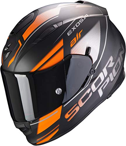 Casco Scorpion Exo-510 Air Ferrum Negro/Naranja L 1