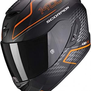 Casco Scorpion Exo-1400 Air Galaxy Negro/Naranja M