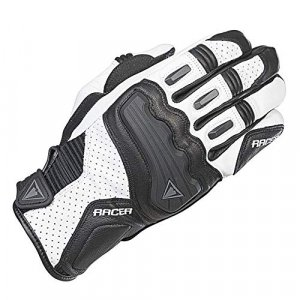 Guantes mujer Racer Guide Negro/Blanco XL