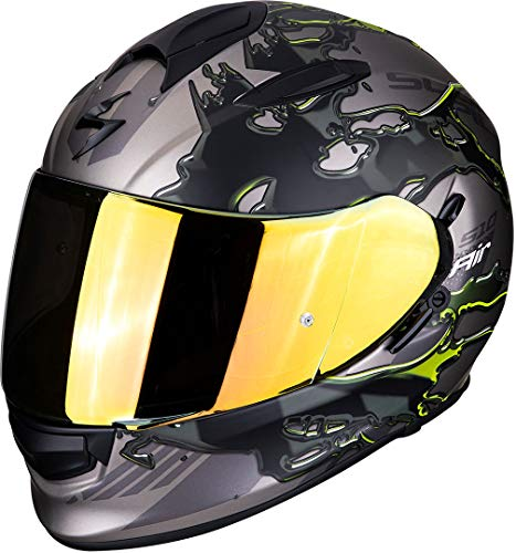 Casco Scorpion Exo 510 Air Likid Titanio/Amarillo XL 1