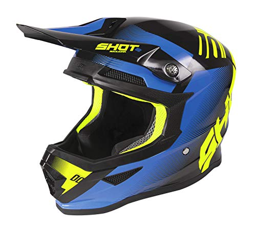 Casco Shot Cross Furious Trust Negro/Azul S 1