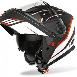Casco modular Airoh Phantom S Beat Negro/Naranja XS