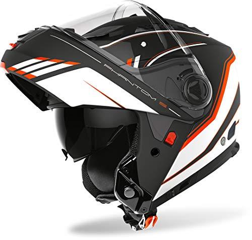 Casco modular Airoh Phantom S Beat Negro/Naranja XS 1