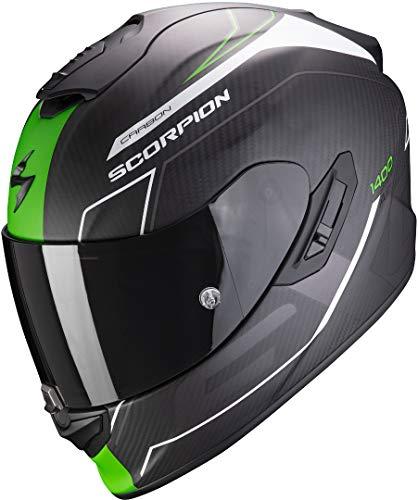 Casco Scorpion Exo 1400 Air Carbon Beaux Negro/Verde XS 1