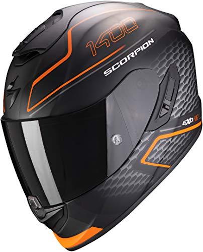 Casco Scorpion Exo 1400 Air Galaxy Negro/Naranja S 1