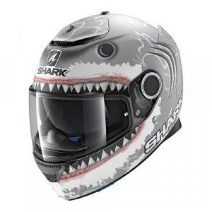 Casco Shark Spartan Lorenzo Mate Gris/Blanco S