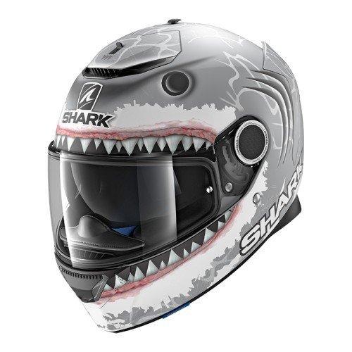Casco Shark Spartan Lorenzo Mate Gris/Blanco S 1