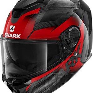 Casco Shark Spartan GT Carbono Shestter Negro/Rojo M