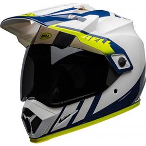 Casco Bell MX-9 Adventure Dash Blanco/Azul/Fluo S