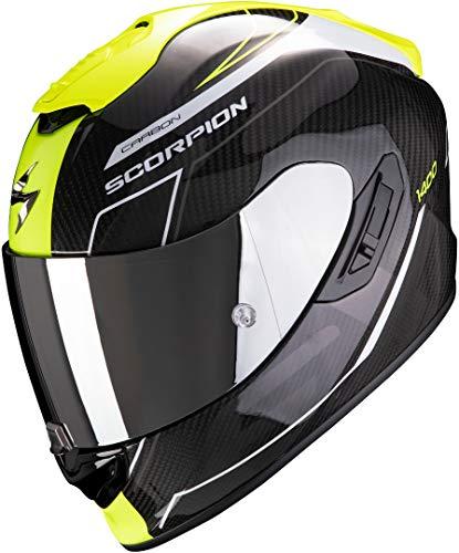 Casco Scorpion Exo 1400 Air Carbon Beaux Negro/Amarillo S 1