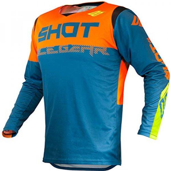 Camiseta cross Shot Contact Trust Azul/Naranja XL 1
