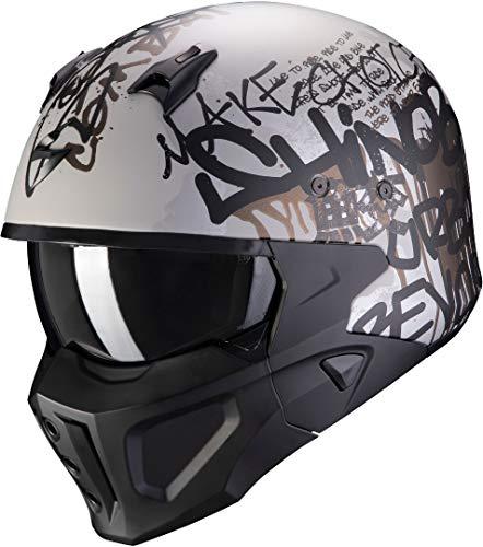 Casco Scorpion Covert X Wall Negro/Plata XXL 1